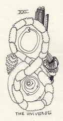 XXI (Nathan Wade Carter) Tags: world city sun clouds circle fire idea drawing sketchbook tarot planets serpent universe 2009 xxi ouroboros uroborus