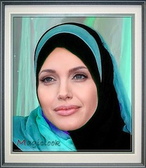 Agelina like an Angel ( in blue ) (magiclook) Tags: africa pakistan angelina jolie soe unhcr irak afganistan mywinners