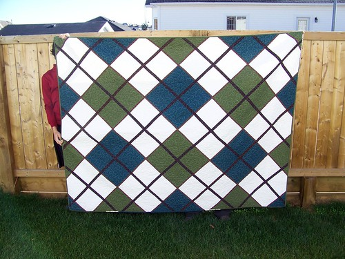 The Argyle Quilt of Doom - Finished!