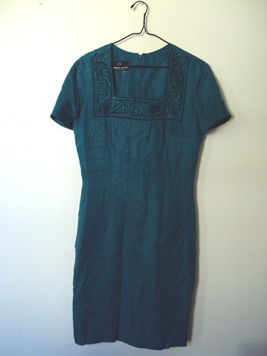 Dark Teal Silk Dress