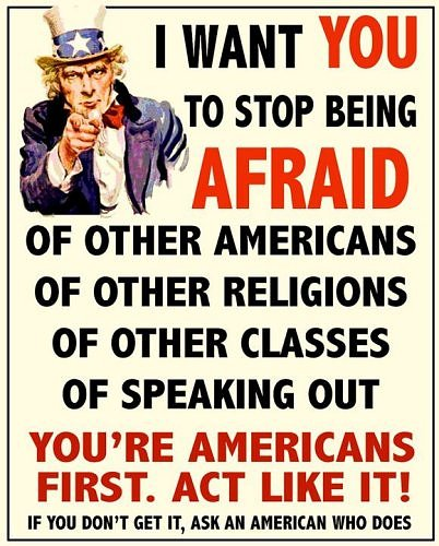 Uncle Sam Stop Being Afraid
