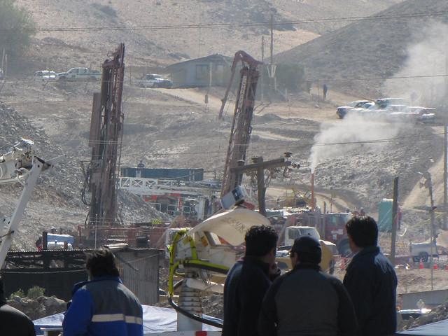 Zona de rescate 33 mineros Chile