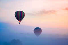 Adventures in Solitude (Heilah Alnasser) Tags: mist sunrise orlando nikon surreal aerial hotairballoon fl nikkor magical ballooning 2010 d300 heilah heilahalnasser