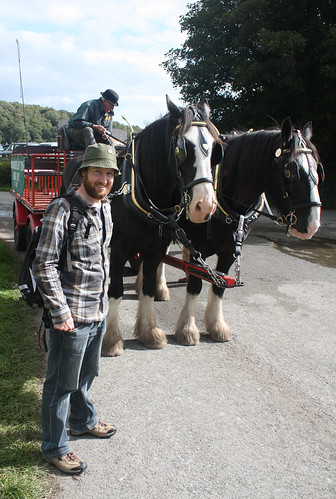 Ade posing with Ben and Troy the Shires