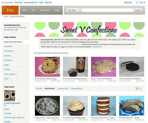 Sweet V Confections on Etsy