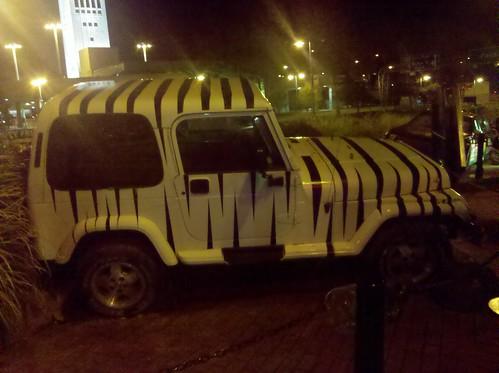 zebra jeep