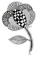 Inspired by Zentangle 0016 (Amaryllis Creations) Tags: penink zentangle