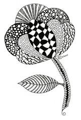Inspired by Zentangle 0016 (Amaryllis Creations) Tags: penink zentangle