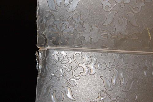 Broken embossing folder