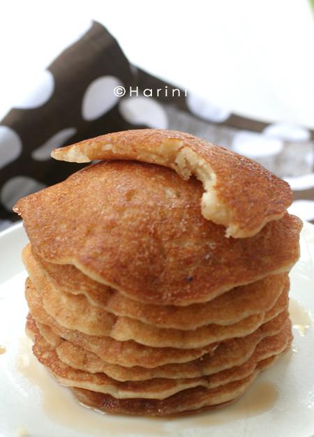 Refine flour pancakes