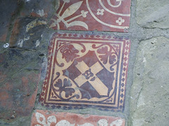 Floor tile, Much Wenlock Priory (marios_h) Tags: church abbey tile temple cathedral gothic medieval norman priory gothicarchitecture anglosaxon floortile cluniac muchwenlock tf136ht