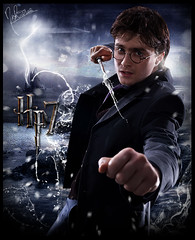 HP 7 [Harry Potter] (Nii Riera) Tags: las poster de la y daniel harry potter cine muerte pelicula hallows blend promocional reliquias deathly