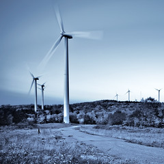 Harvesting the Wind (Sky Noir) Tags: mountain west green virginia energy power wind thomas harvest windmills clean ridge wv future electricity innovation windfarm backbone cyanotype windpower turbines skynoir bybilldickinsonskynoircom