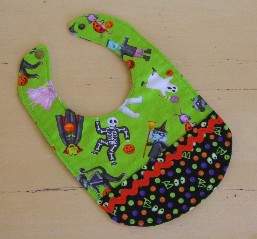 BABY BIB with Pocket- Halloween Costumes- Dots