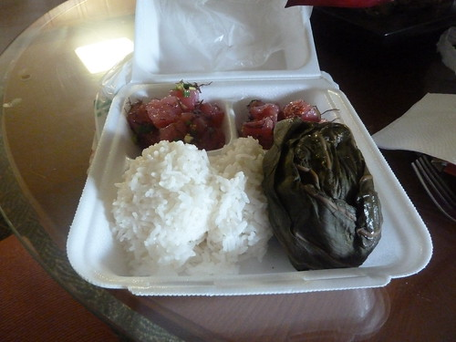 Pork Lau Lau and Poke from the Pono Market, Kapa'a