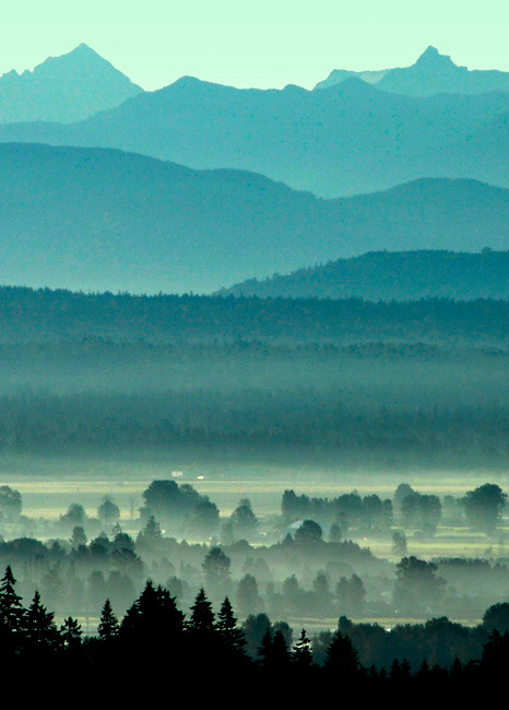 Morning mountains by Doug Matthews