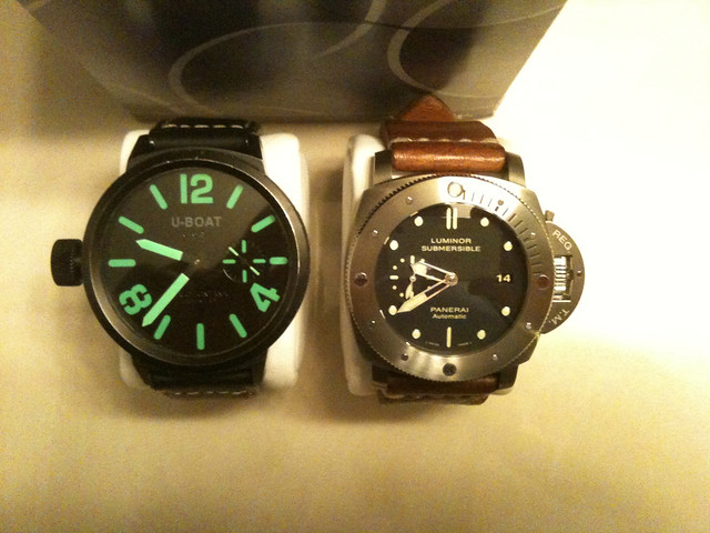 u-boat flightdeck mbg 50mm pvd watch