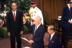 Lee Kuan Yew Sworn In as Senior Minister