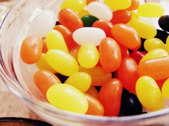 halloween jellybeans (nerdcity411) Tags: orange white holiday black halloween yellow yummy candy or bowl treat trick jellybeans steets