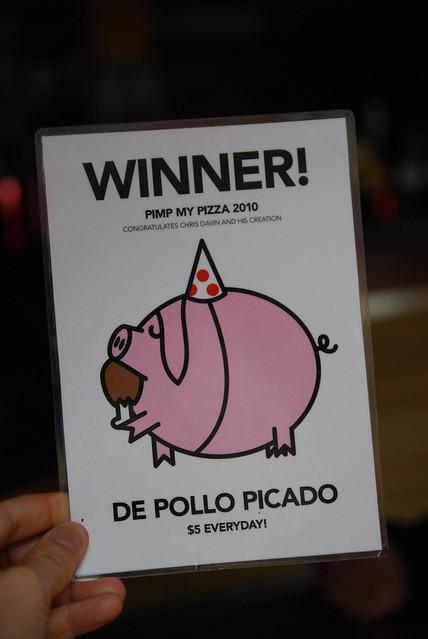 Winner Pimp My Pizza 2010 - De Pollo Picado - Bimbo Deluxe by avlxyz