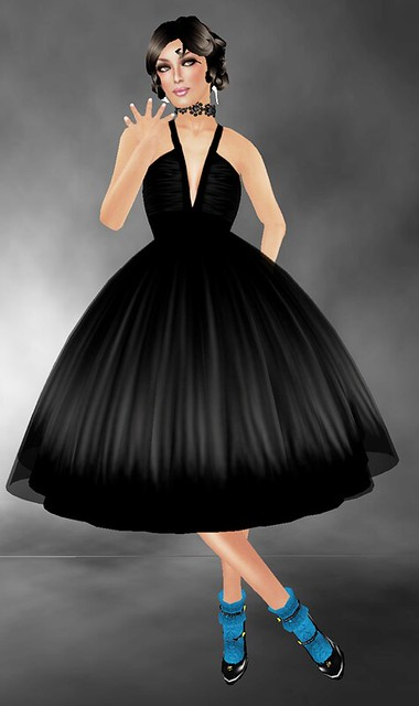 Free!!~*INDIE ROSE*~ Black Cocktail Dress & Chocker