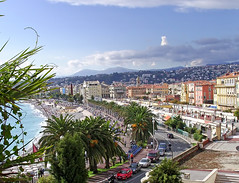 "SNB10290- My postcard of ""Nice"" (Town in south of France) 城市尼斯 (Rolye) Tags: street blue trees sea sky mer beach clouds wonderful town yahoo google nice image postcard samsung www images bleu ciel arbres com nuages rue plage ville palmiers promenadedesanglais cartepostale postalcard kartpostal nv7 flickraward nv7ops thebestofday gününeniyisi postcardnice 城市尼斯"
