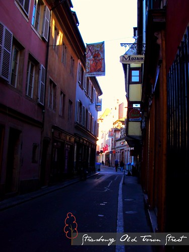 Old Town Streets of Strasbourg, France