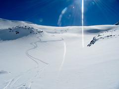 There is nothing like first tracks. (ylarrivee) Tags: chile ski argentina 2010 nevadosdechillan ski2010southamerica