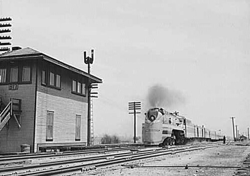 Historic photo!  The Milwaukee Road, Midwest Hiawatha passenger train in 1943. by Eddie from Chicago