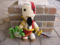 KratosSackboy 055 (Ami Amour) Tags: doll crochet amigurumi medusa kratos sackboy