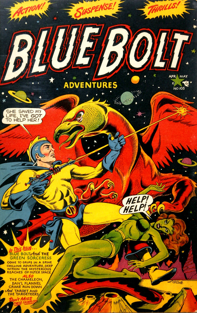 Blue Bolt #105 (Star Publications, 1950)