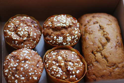 Pumpkin muffins and bread