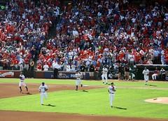 rangers take the field (allikazoo) Tags: texasrangers newyorkyankees alcs