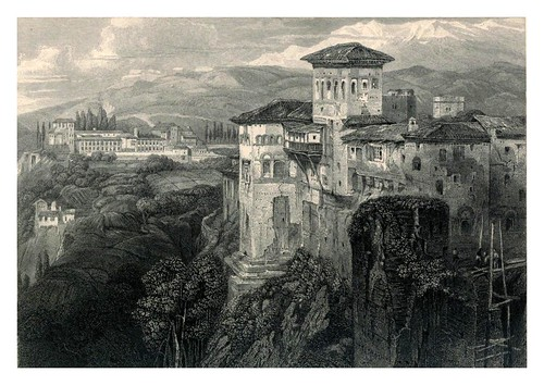 001-El Generalife-Tourist in Spain-Granada-1835-David Roberts