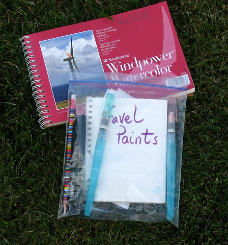 Travel paint kit & Journal