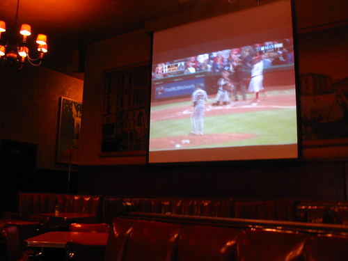 Watching the game at Tosca