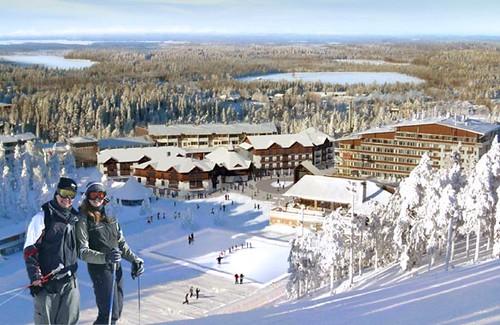 Skiing in Ruka, Finland (credit Puroplan)
