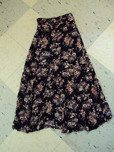 Floral Button Down Long Skirt