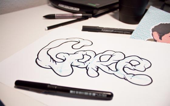 core en caligrafía