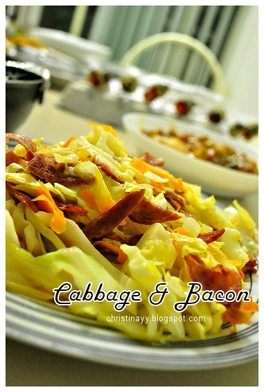 Shaine's Farewell Dinner: Stir Fried Cabbage with Bacon