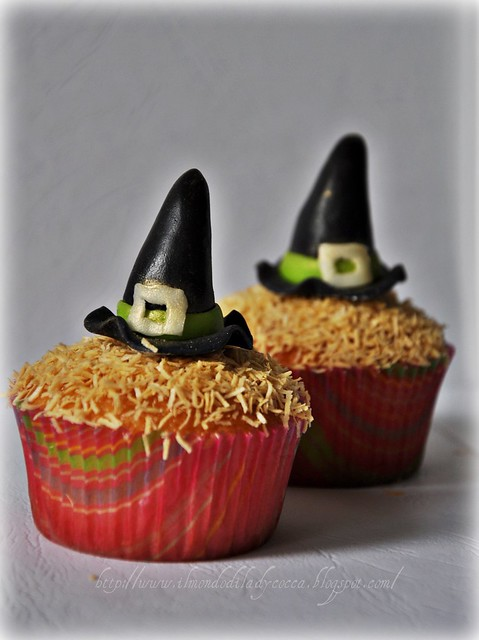 Cupcake per Halloween....Cappelli di Strega