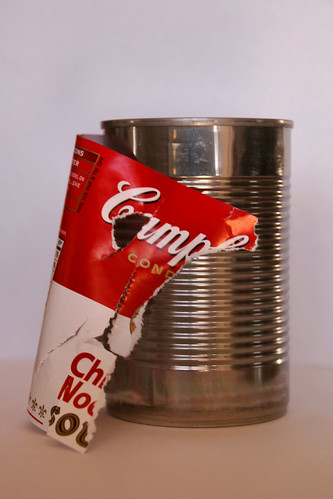 Warhol's Torn Campbell's Soup Can