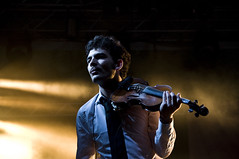 The Violinist (orestis f) Tags: people music musicians digital onstage dslr worldmusic violinist shantel explored nikond90 balkanbeat nikkorafs18200mm