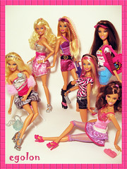 Barbie Fashionistas Wave 3 (egolon) Tags: dolls sassy barbie glam sweetie sporty bestfriends bff fashionistas shoppingspree wave3