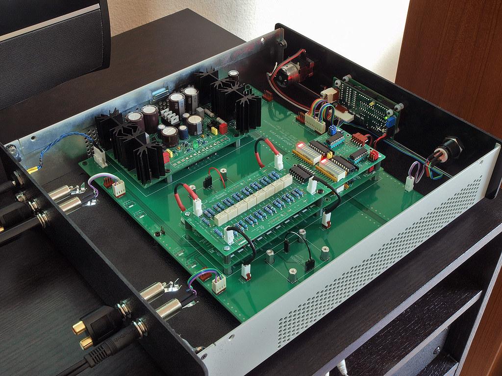 Audio Volume Control Attenuator With Ir Control