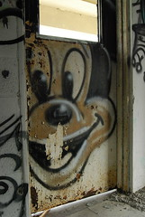 Its Mickey (Stalkin The Lines) Tags: street plant streetart building art abandoned water graffiti paint florida decay tag westpalmbeach tags mickey spray fl spraypaint graff palmbeach abandonment southflorida