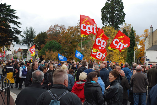 Manifestation pour les retraites à Chatellerault