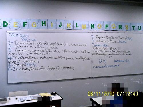 Rotina Prevista (08/11/2010) e ampliada (verifique no site)