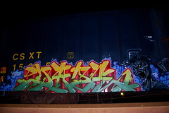 DAZE (daze tn) Tags: art train graffiti birmingham tn alabama boxcar freight daze moist csx nsa dazetn