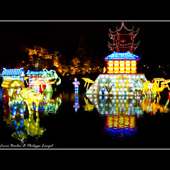 """""""Qing Ming Shang He Tu """" - Lantern Festival - Montreal - Canada (Lucie et Philippe) Tags: voyage china trip travel light canada night lanterne montreal business lumiere lantern nuit lampion"""